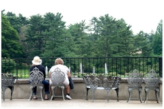 women in longwood gardens